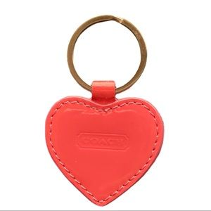 New Coach Heart Keychain